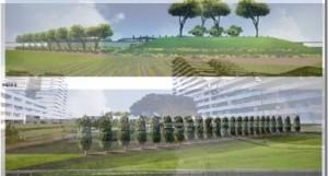 IL rendering dell'impianto di compostaggio a Scampia