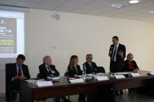 Il tavolo dei relatori intervento di Marcello Pittella