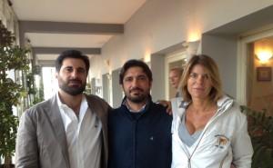 foto soci Antonio Della Notte, Domenico De Luca e Angela Aloschi