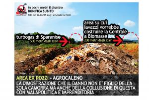 Calvi Risorta: no alla centrale a biomasse, presidio del Comitato per l'Agro Caleno